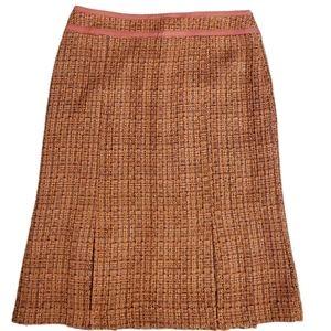 NWT! Sigrid Olsen Pink Wool Blend Tweed Skirt 6